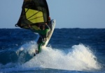 Adam Lewis Windsurfing El Medano Harbour Wall 09-02-2013