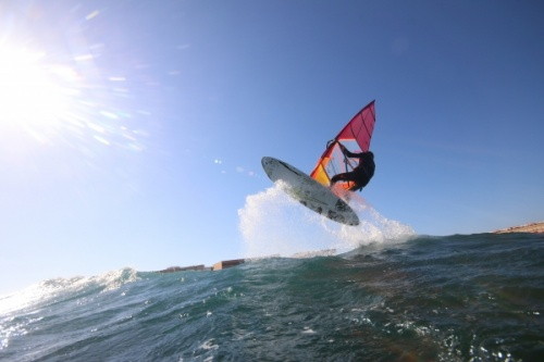 Bruch Boards Wave windsurfing at El Cabezo in El Medano Tenerife SurfMedano 08-12-2018
