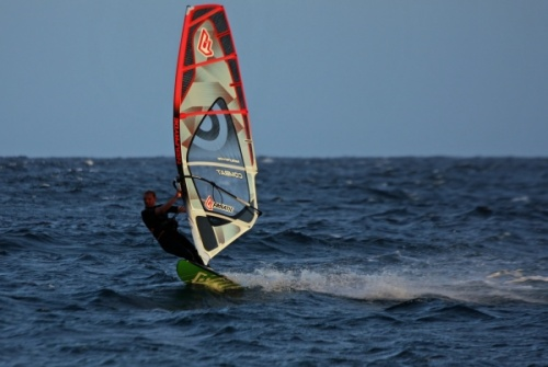 Evening windsurfing in El Medano 05-04-2013