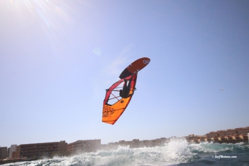 Light wind wave windsurfing at El Cabezo in El Medano Tenerife 13-03-2019