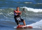 Mark Shinn kitesurfing on Cabezo 07-11-2012