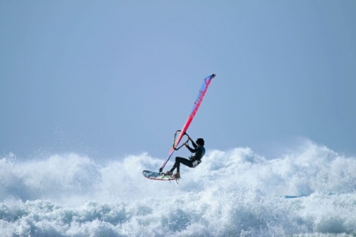 Mast high waves at Los Christianos with Alex Mussolini, Valter Scotto and others