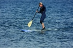 Stand up paddle surfing SUP in El Medano