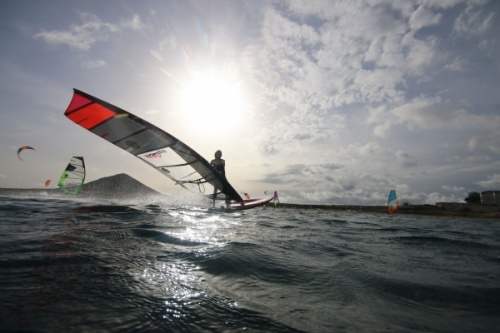 TWS new slalom windsurfing toys at Playa Sur in El Medano Tenerife 29-11-2017