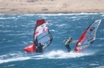 TWS Pro Slalom training at 40 knots wind in El Medano Tenerife 09-03-2019