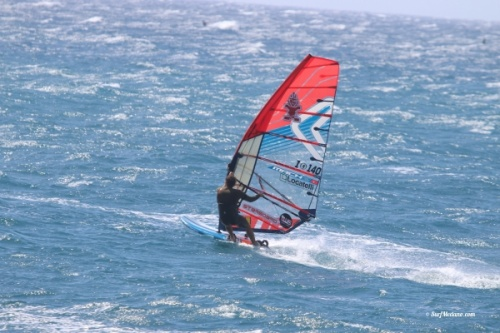 TWS Pro Slalom training at 40 knots wind in El Medano Tenerife 10-03-2019