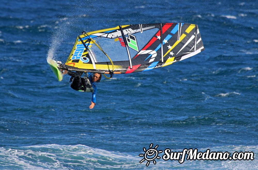 POINT-7 Black Team testing SWAG, SPY, SALT, SPLASH sails in El Medano Tenerife 14-03-2015