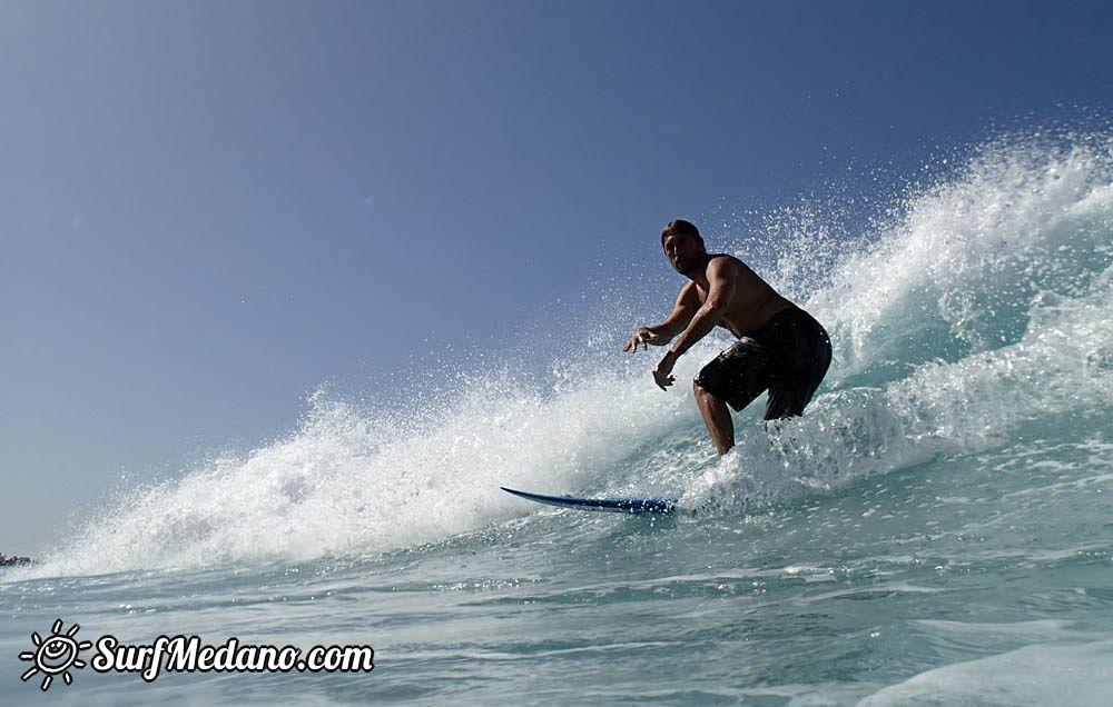 Surfing in Los Christianos at La Izquierda and El Conquiscador