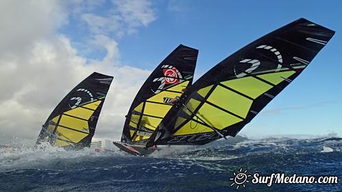 Windsurfing at El Cabezo in El Medano Tenerife