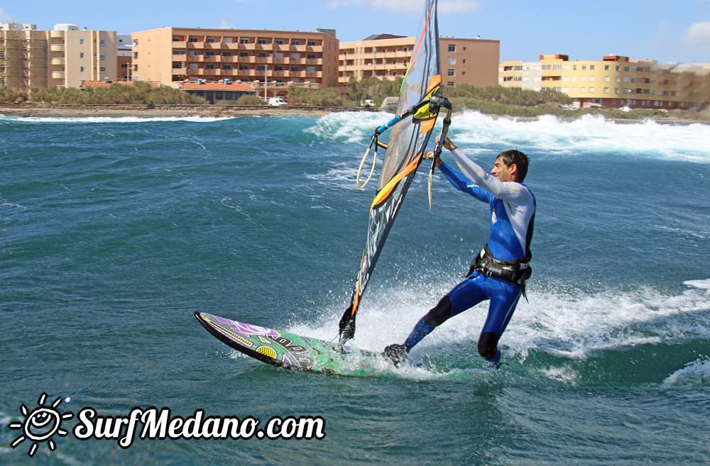 Wave riding at Cabezo in El Medano