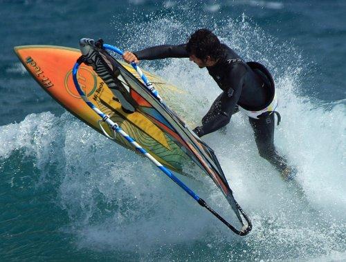 Alex Mussolini E-30 windsurfing in El Cabezo