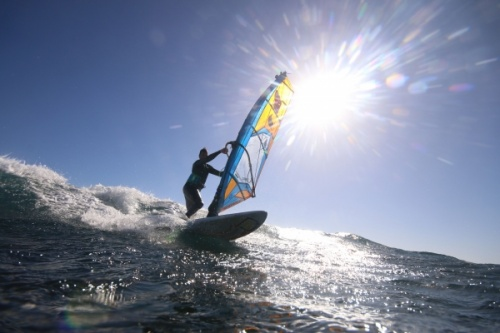 Wave windsurfing at El Cabezo in El Medano 02-01-2018