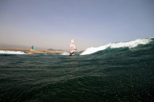 Wave windsurfing at El Cabezo in El Medano 07-09-2017
