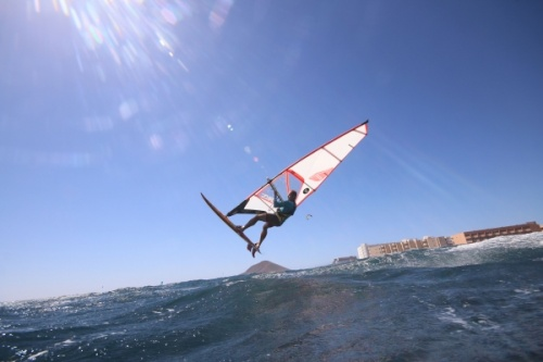 Wave windsurfing at El Cabezo in El Medano 12-03-2017
