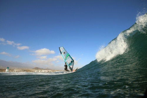 Wave windsurfing at El Cabezo in El Medano 30-01-2016