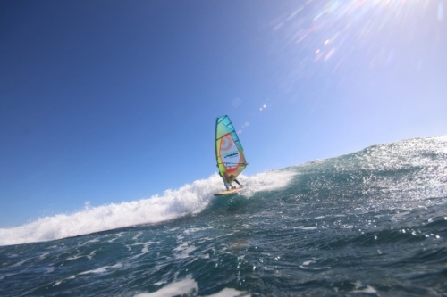 Wave windsurfing at El Cabezo in El Medano Tenerife SurfMedano 03-11-2018