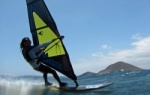 Windsurfing and kitesurfing at Harbour Wall  Muelle in El Medano 17-04-2013