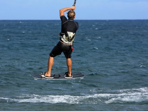 Windsurfing and kitesurfing in El Medano South Bay 23-10-2012