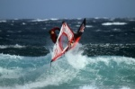 Windsurfing at El Cabezo in El Medano with gusts of 50 knots 24-02-2015