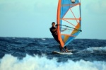 Windsurfing at Habrour Wall in El Medano