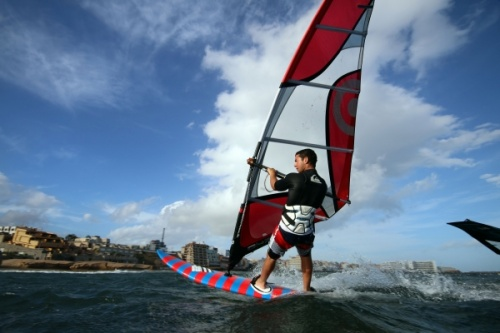 Windsurfing at Paya Sur in El Medano 01-04-2014