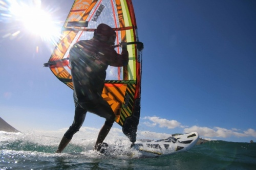 Windsurfing at TWS Playa Sur in El Medano Tenerife 20-01-2018