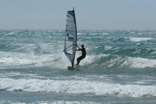 Windsurfing bump and jump