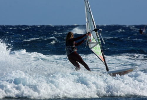 Windsurfing El Medano Harbour Wall 22-01-2013