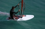 Windsurfing gybe or jibe