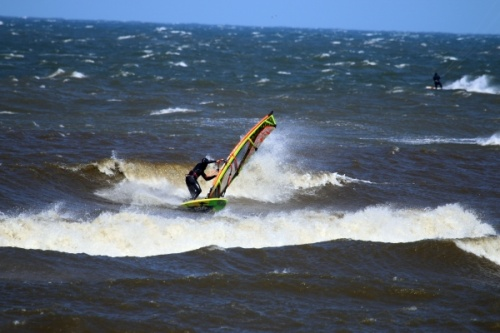 Windsurfing in Leba Poland 12-04-2015