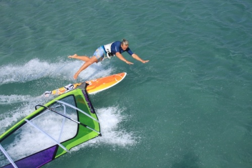 Windsurfing is fun and funny