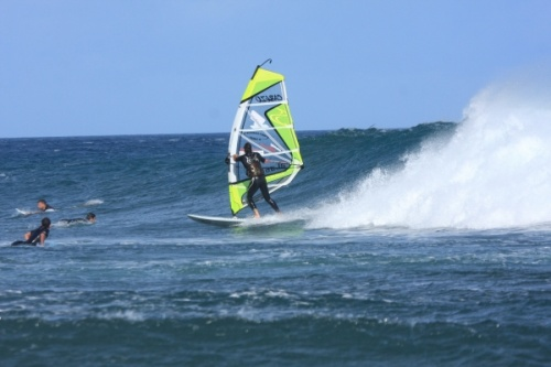 Windsurfing Playa Sur, South Bay in El Medano