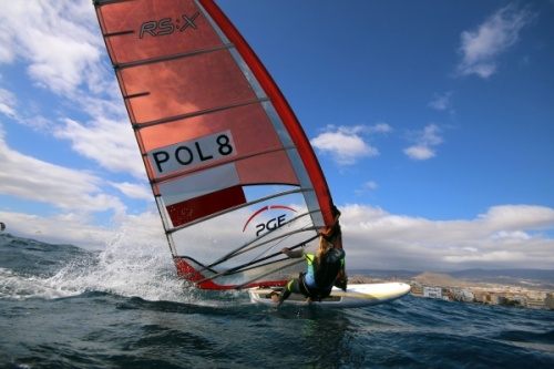 Zofia Noceti Klepacka POL-8 RSX  windsurfing world and olimpic champion in El Medano